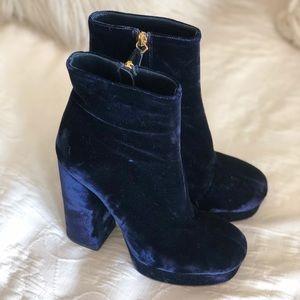 Prada royal blue booties